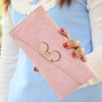 New Brand Fashion Pu Leather Women Wallet Female Printed Colorful Wallets Ladies Long Clutches With Coin