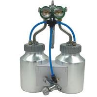 SAT1200 High Pressure Airbrush Car Paint Spray Double Nozzle 1.3mm Pneumatic Paint Gun Silver Mirror Chrome Plate Air Spray Gun