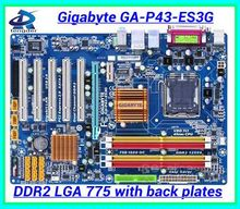 Free shipping 100% original desktop motherboard mainboard for Gigabyte GA-P43-ES3G P43-ES3G DDR2 LGA 775 Gigabit Ethernet