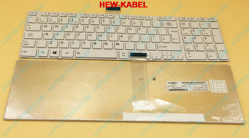 Original UK Keyboard for TOSHIBA satellite L850 L855 C850 C855D C850D C855 C870 C870D C875 C875D L875 L875D white with frame image