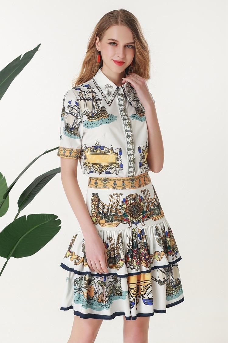 Mode Luxe Ensembles Design De 2019 Style Européenne Partie Vêtements Marque Femmes Ah03659 Célèbre Piste x6WSqTT