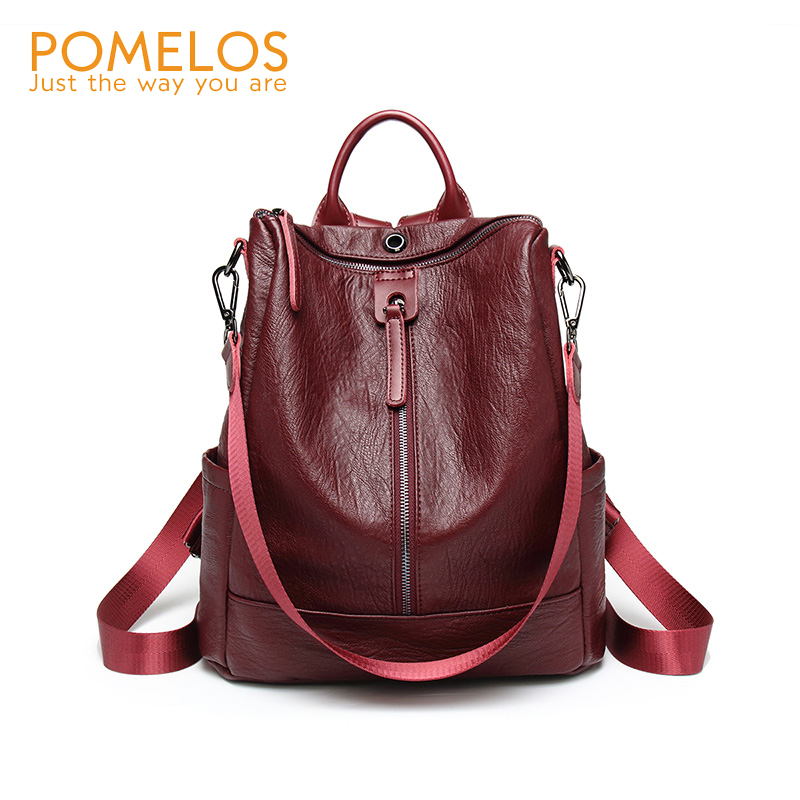 POMELOS Backpack Women 2018 New Leather Backpack Soft PU Back Pack Purse Rucksack Ladies Backpack School Bags For Teenage Girl браслет из авантюрина классика