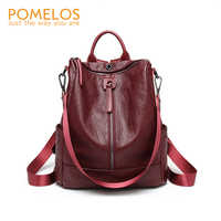 POMELOS Backpack Women High Quality Soft PU Leather Backpack Back Pack For Women Fashion Backpack Designer Travel Rucksack Women