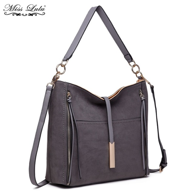 2ef3430db3f8 Miss Lulu Women Designer Suede Leather Shoulder Bags Ladies Soft Slouchy  Vintage Tote Cross Body Bags