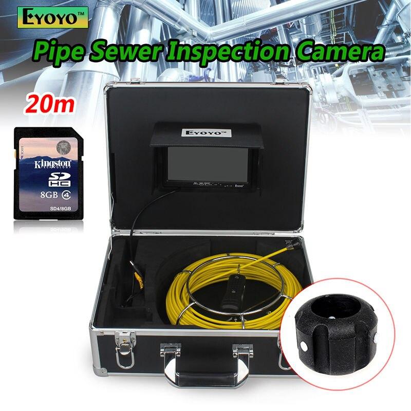 """bilder für Freies verschiffen! 20 Mt Kanalisation Wasserdichte Kamera 7 """"LCD Abflussrohr Rohrinspektionssystem mit DVR"""