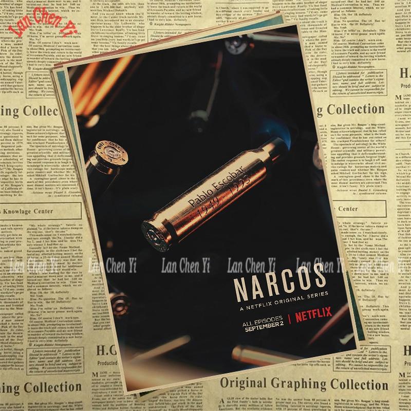 Теледидар ойнау Narcos Season Matte Kraft Paper - Үйдің декоры - фото 2