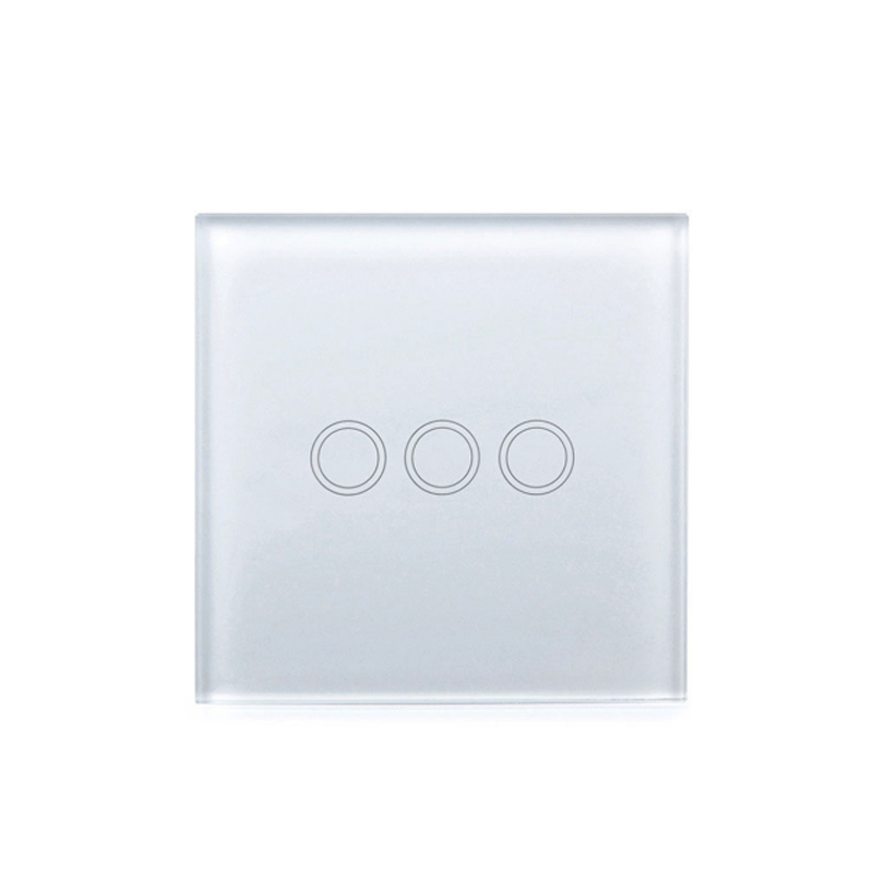 3 Gang EU Touch Switch for lamp High Safety 220V Light switch Easy installation for home improvement Wall switch without button