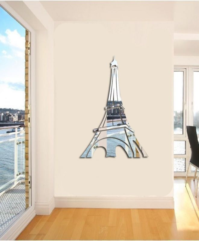 Unique Design Novelty DIY Eiffel Tower Mirror Wall Stickers Fashion Modern Art Wallpapers - Home Decor Shop store