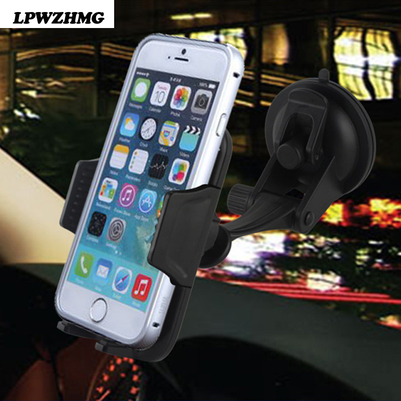 Car Holder For Mobile Phone Holders 360 Rotatable Car Mobile Phone Holder Stand Universal Gps Stand Windshield Mount for iphone6