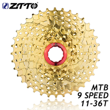 ZTTO 9s 27s Speed Gold Golden Freewheel Cassette MTB Mountain Bike Bicycle Parts 11-36T for Parts M370 M430 M4000 M590 M3000 цена