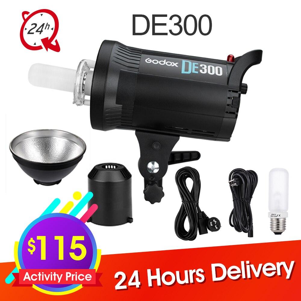 Godox DE300 300 w Compact Studio Flash Light Strobe Éclairage Lampe Tête 300Ws Donner Sync Câble Caméra Flash Speedlite Lumière