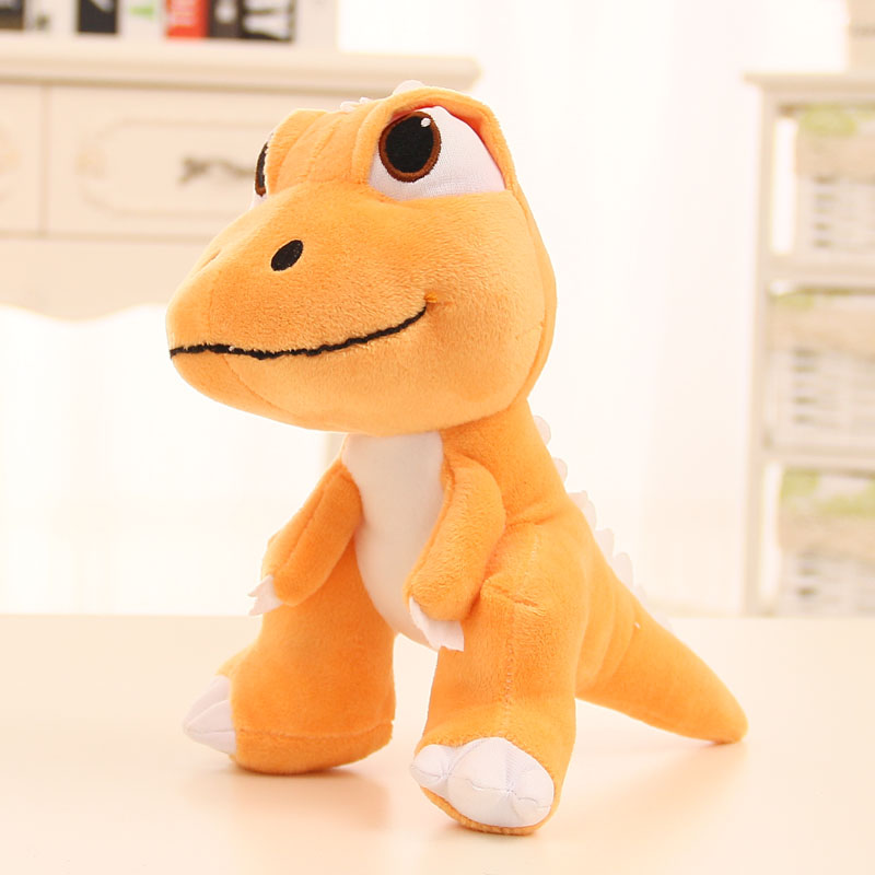 20cm Creative cute Orange dinosaur doll plush toy simulation animal  doll birthday gift cartoon largest size 95cm panda plush toy cute expression panda doll birthday gift w9698