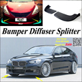 Car Splitter Diffuser Bumper Canard Lip For BMW 5 M5 F10 F11 F07 2010~2016 Tuning Body Kit / Car Flap Fin Chin Reduce Body