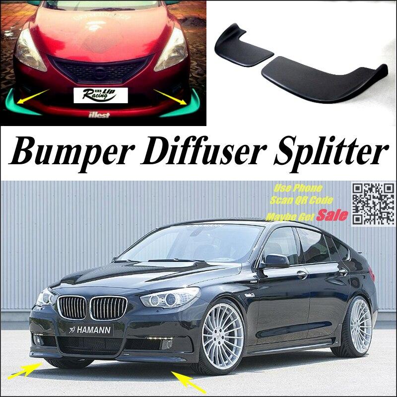 Séparateur de voiture diffuseur pare-chocs Canard lèvre pour BMW 5 M5 F10 F11 F07 2010 ~ 2016 Kit de carrosserie Tuning/aileron de voiture menton réduire le corps