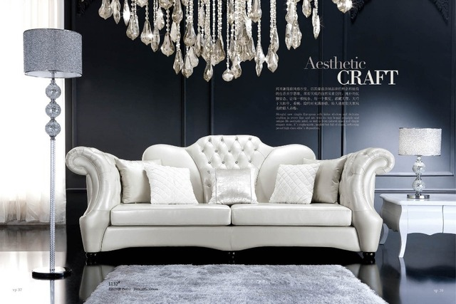 Newest Wholesale Classic Furniture Living Room Set With Ottoman