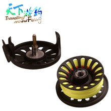 85mm Fly Fishing Reel Set with Line 5/6 WT Backing Taper Leader Combo For Wheel Tackle Tool Pesca