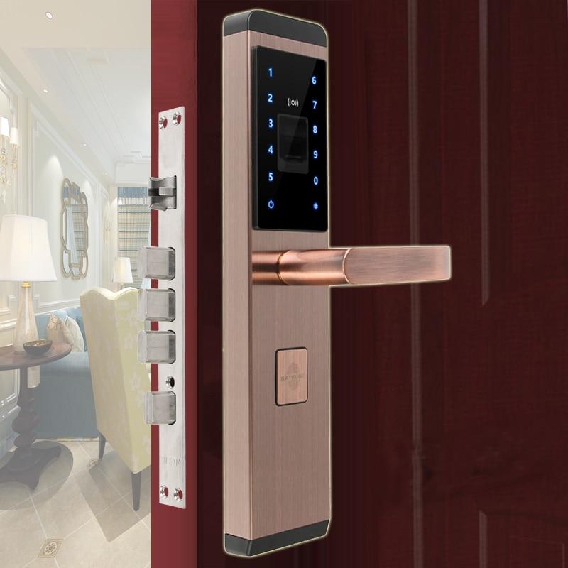 RAYKUBE Fingerprint Electronic Lock Digital Smart Lock 4 Ways Unlocking Security Home Door R-FX1 unlocking the negawatt