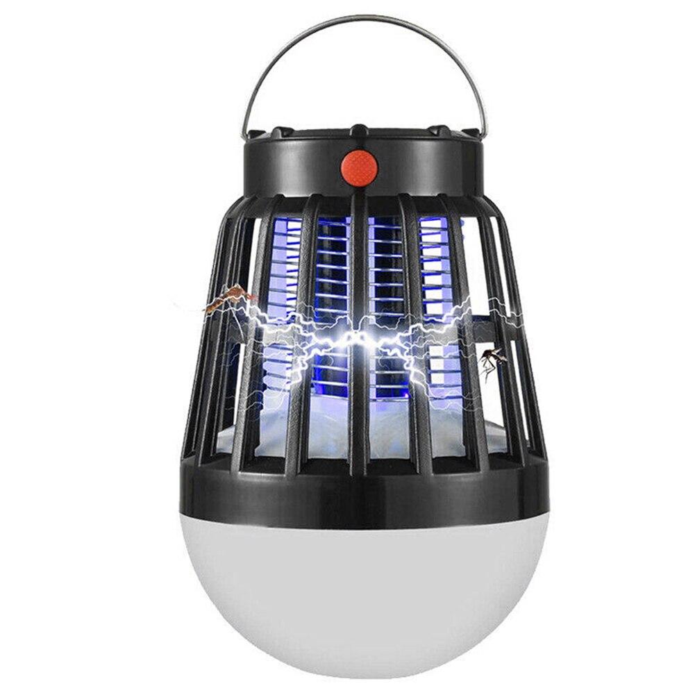 100% Vero Bug Assassino Della Zanzara Lampada Ha Condotto La Luce Esterna Di Volo Piccolo Solar Powered Hanging Non-radiative Notte A Casa Di Pesca Tenda Da Campeggio