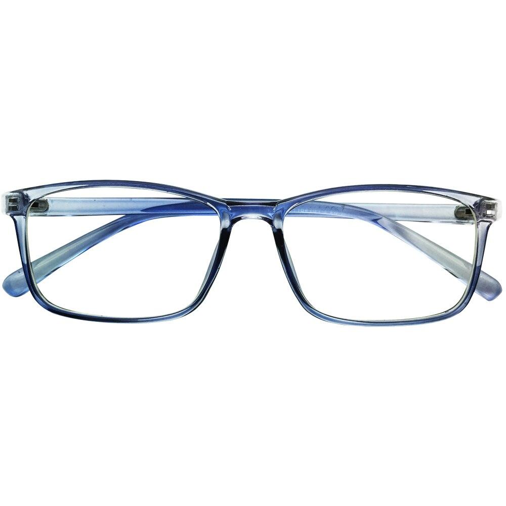 Computer Schildkröte Rahmen Photochrome Schwarz purple Brillen Frauen blue Rechteck Gloss Lesen Abstand tortoise Lila Blau Black Neue Mens qRvPvft