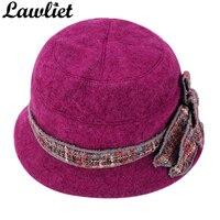 02YH 2016 New Style Fashion Floral Lady Winter Wool Cap Beret Bucket Hat Female Fashion Skullies