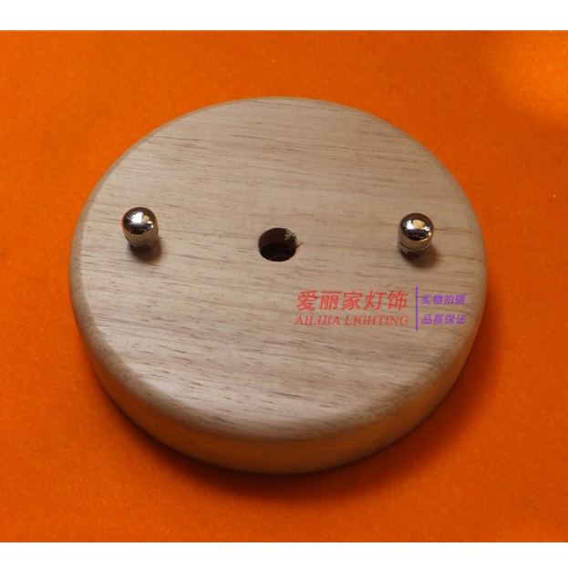 Ceiling Lights Cover Plates : Pcs lot mm holder pendant lights ceiling plate wood