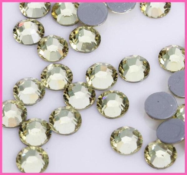Все размеры 40 цветов кристалл AB исправление стразы, Стекло Стразы исправленное железо на Стразы для дизайна ногтей шитье и ткань Decoretion - Цвет: Jonquil