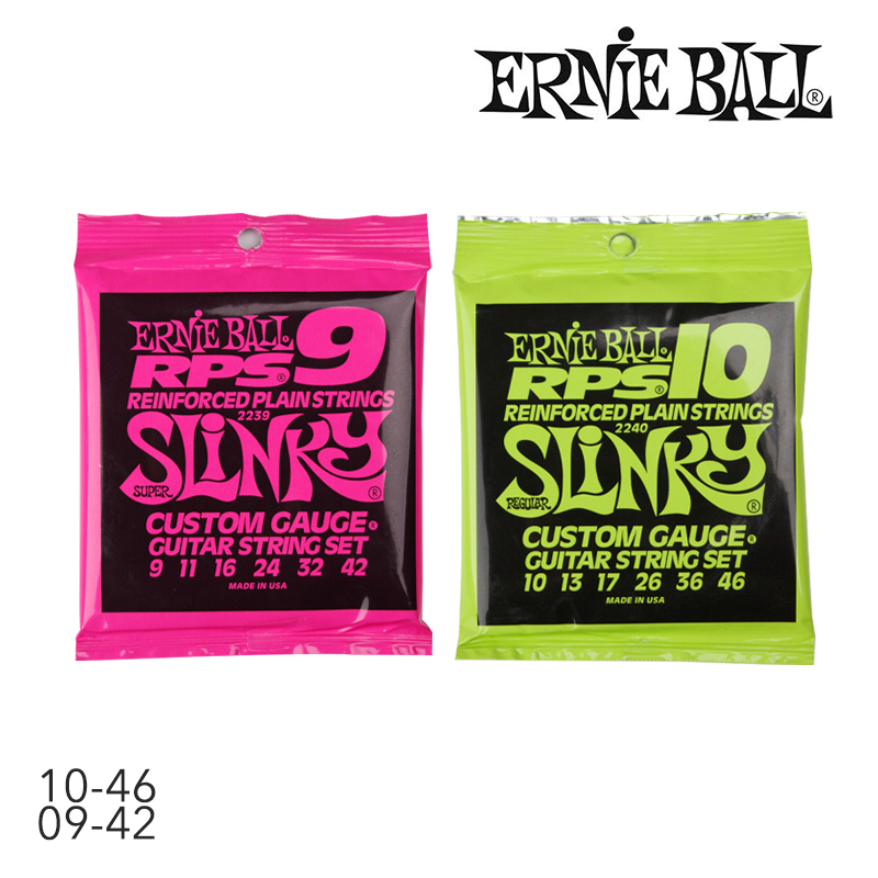 original ernie ball ernie ball 2239 2240 electric guitar string rps 9 rps 10 slinky nickel wound. Black Bedroom Furniture Sets. Home Design Ideas