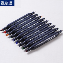 6PCS/Box STA3203 Alcohol Soft Hair Double Marker Painting Professional markers Anime Color Oily