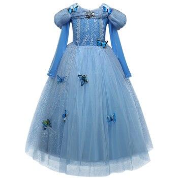 Vestidos de Comunion Para Ninas 2017 Wedding Kids Evening Gowns Children Princess Dress for Formal Flower Girls Prom Dresses
