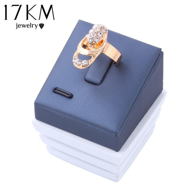 Rose Gold Color Crystal Necklace Earring Bracelet Ring Set 8