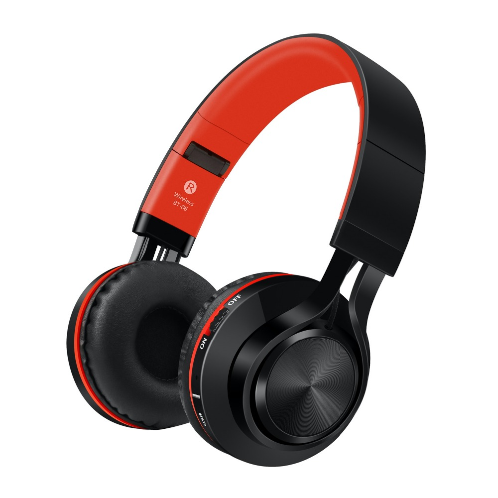 Picun BT-06 Bluetooth Headphones Stereo Wireless Headset Bluetooth 4.0 support Memory Card FM Radio for Iphone Samsung Xiaomi new bluetooth headset wireless headset folding headphones mp3 player fm radio music stereo headphones for xiaomi headphones