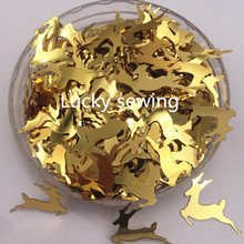 20g/lot Christmas Deer shape paillette 20mm loose Sequins for Party decoration  KidsDIY Sewing Weeding Accessories