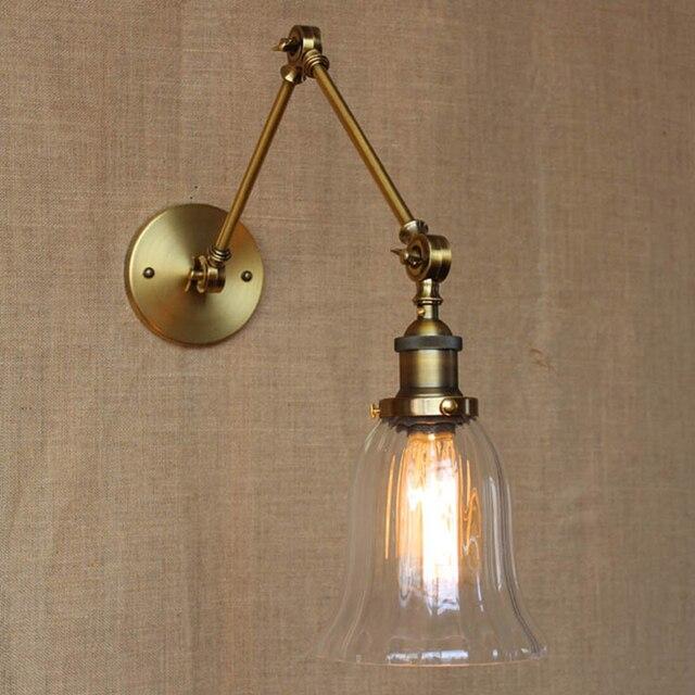 Appliques Murales Lampe Flexible Bras Oscillants Lumières éclairage  Industriel Applique Lumière Salle De Bain Attelle Rétro