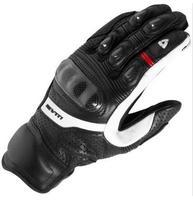 Genuine Leather Revit Motorcycle Short Gloves Moto GP Driving Motorbike Team Racing Gloves