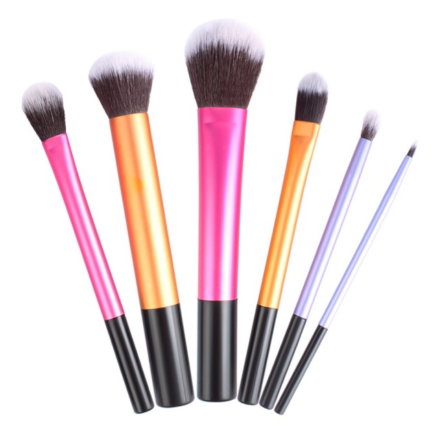 6Pcs Liquid Foundation Eye Shadow Makeup Brushes Eyeliner Powder Blush Brush Tools Soft Professional Cosmetic Brushes Kit #82856