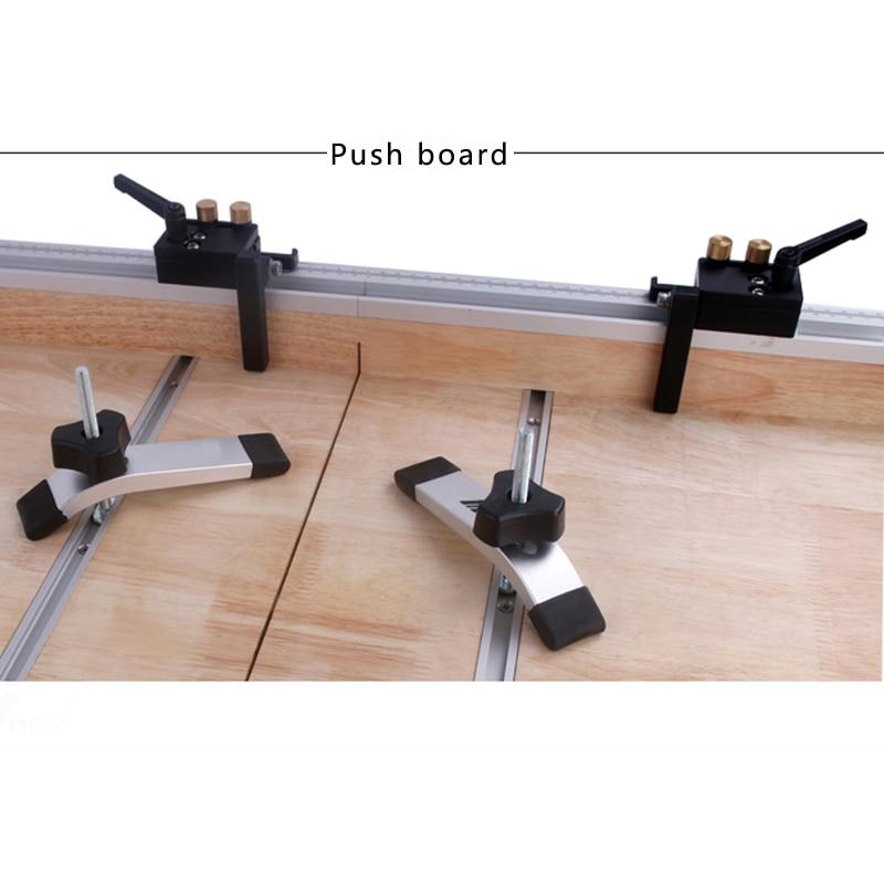 Aluminum T Track Rail Miter Track Stop Limiter Miter T-slot 300-800mm Woodworking Hand Tools