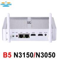 Причастником B5 Mini PC Dual Core 2 Ethernet LAN маршрутизатор брандмауэра Intel Celeron N3150 N3050 pfSense без вентилятора