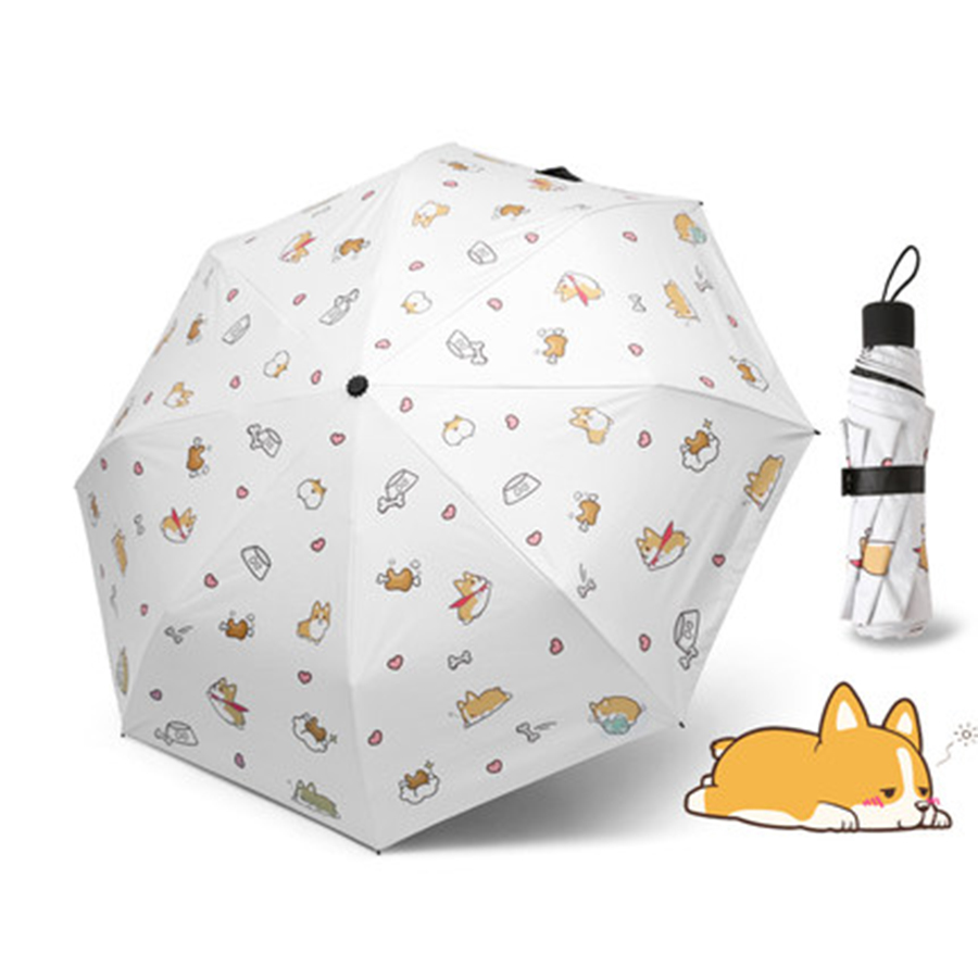 Mini Folding Umbrella Uv Protection Windproof Sun Korean Umbrellas Anime Portable Guarda Chuva Feminino Corporate Gifts 40YS0086