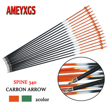 12pcs Archery Spine 340 Carbon Arrow Target Point Arrowhead Pure Shaft For Bow And Hunting Shooting Accessories