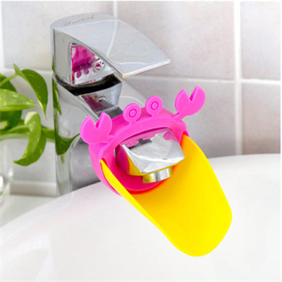 1 pc Leaf And Crab Design Baby Faucet Extender Cute Shape Baby Kids Hand Washing Sink Gift Plastic Faucet Extender Random Color