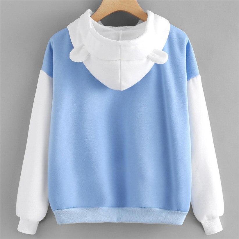 Chamsgend Drop Ship USA Polar Bear Sweatshirt Cat Ear Sweatshirt,individuals do not buy,we won't sent to individuals 80602