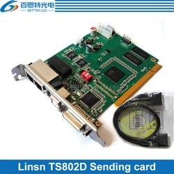 Linsn TS802D система управления Отправка карты для большой полноцветный светодиодный дисплей светодиодный контроллер карты