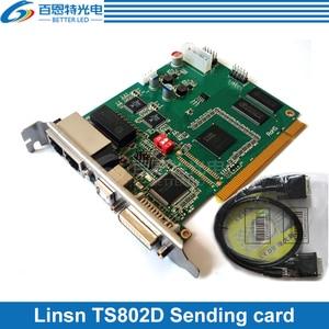 Image 1 - Linsn TS802D نظام التحكم إرسال بطاقة كبيرة كامل اللون LED عرض بطاقة وحدة التحكم LED