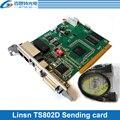 Linsn TS802D sistema di controllo della carta di Invio Per Grande di colore Completo HA CONDOTTO display A LED scheda di controllo