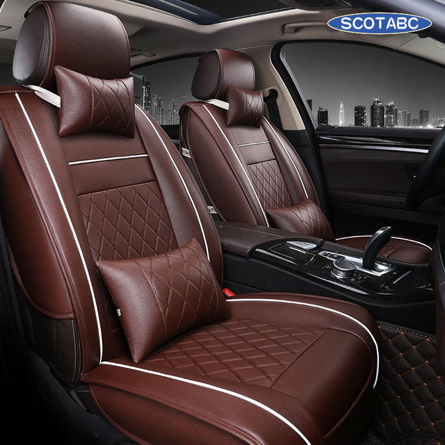 SCOTABC Leather Seat Cover For Jeep Liberty Jeep Seat Covers Grand Cherokee  Waterproof Housse Siege Voiture