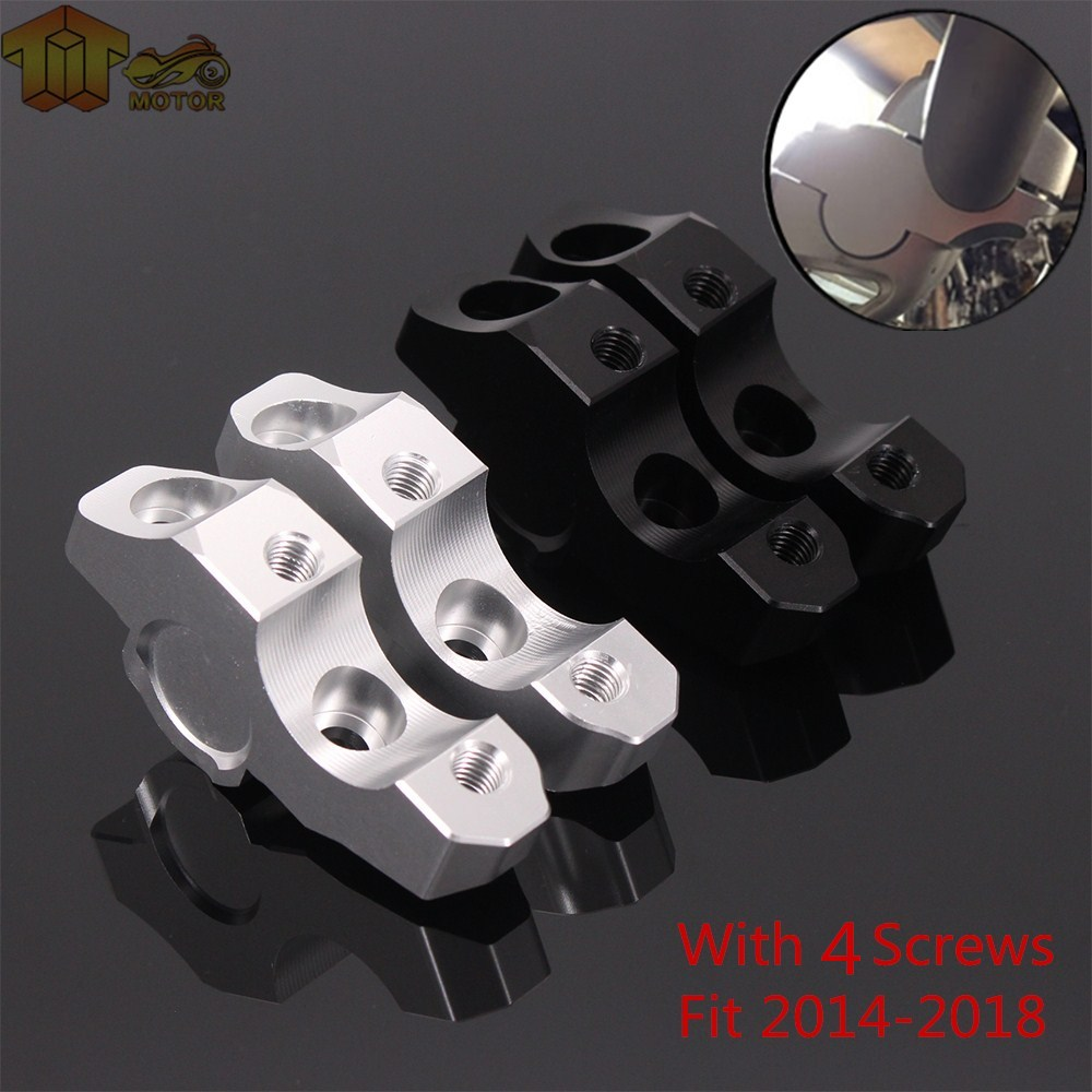 Motorcycle 28mm Black Handle Bar Clamp Raised Extend Handlebar Mount Riser For BMW S1000R S1000 R 2014 2015 2016 2017 2018