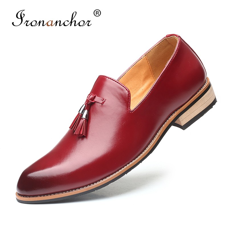 2019 Size 38-48 Men Dress Shoes Oxford Elegant Luxury Social Wedding Designer Male Formal Shoes #SY-R8508