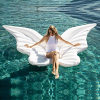 2019 New Adult Child Inflatable Pool Rafts Butterfly Water Inflatable Ride ons Swimming Ring Floating Bed Mount Floating Row Toy