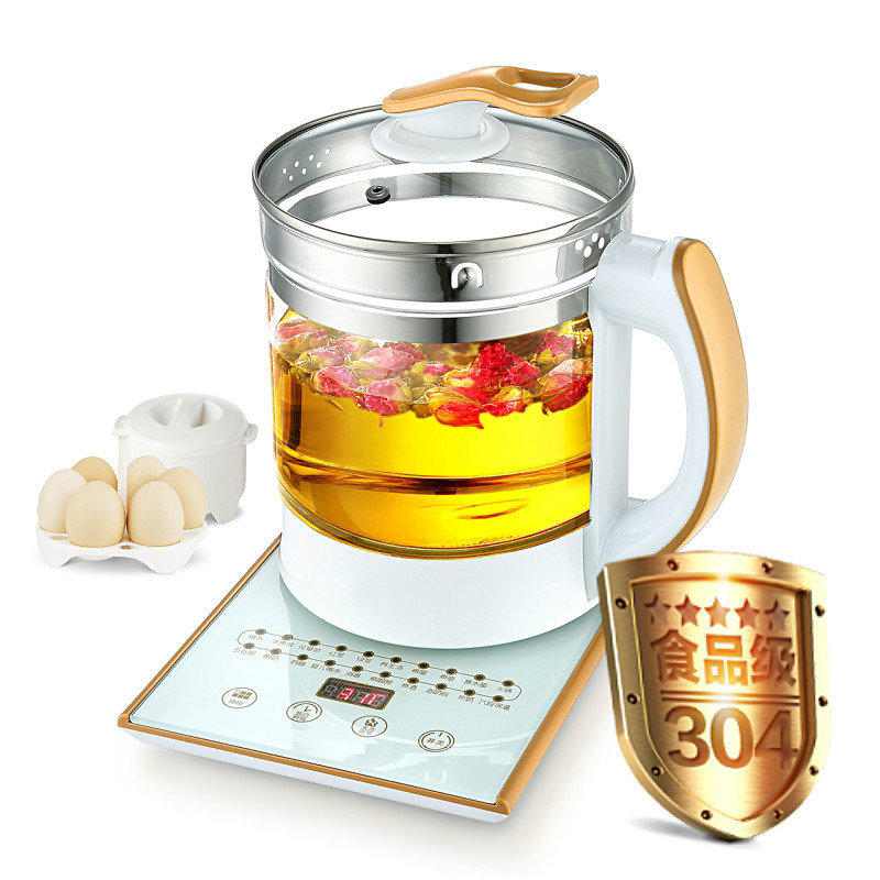 Electric kettle Curing pot Fully automatic thickened glass tea with multi-function flower teapot Anti-dry Protection fully automatic thickened glass multi function electric heating kettle flower pot boiling tea ware anti dry protection