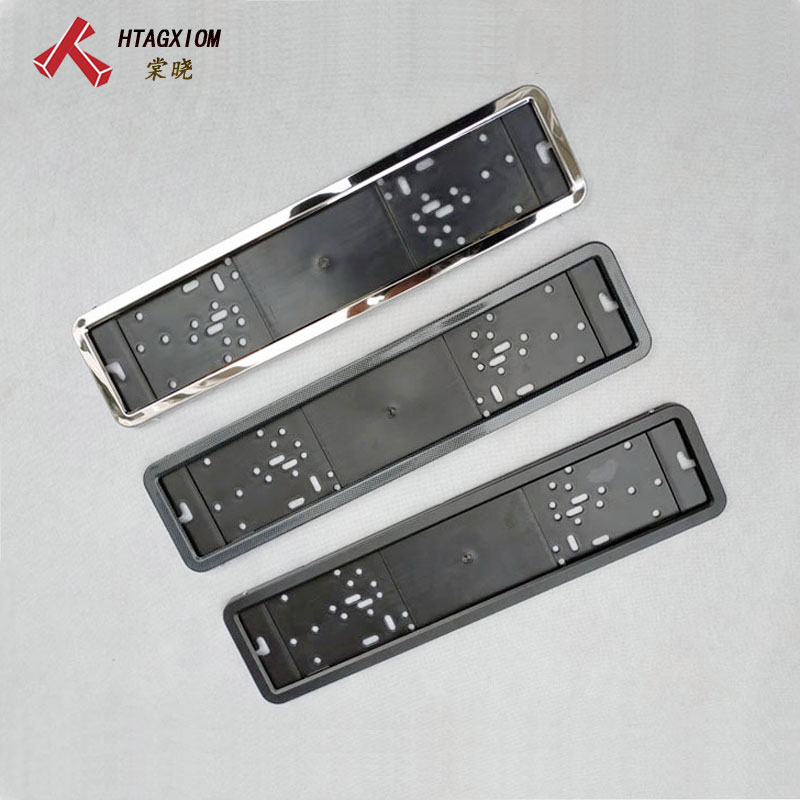 1 Pcs Car License Plate Frame Metal And Plastic Frame Car License Plate Holder Number Plate Holder Fit Eu